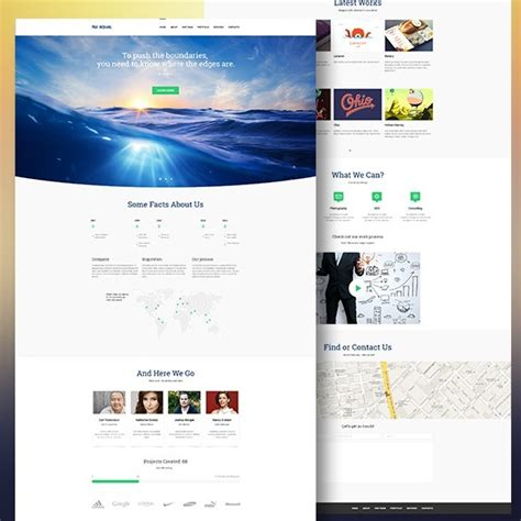 free professional website template 27 professional free psd website templates