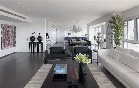 Grey Interior Design | modern white and gray apartment interior design by