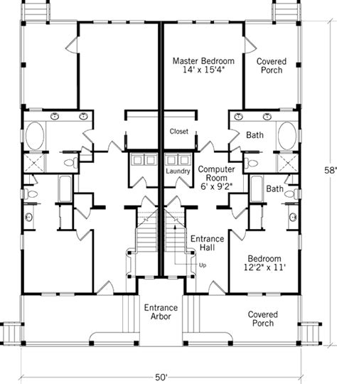 coastal duplex house plans dune duplex coastal living coastal living house plans