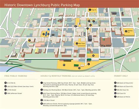 map of lynchburg virginia downtown parking facilities city of lynchburg virginia