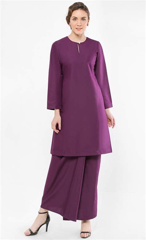 Jumpsuit Monic Baju Wanita Simple kurung pahang qirana in mangosteen purple fashionvalet