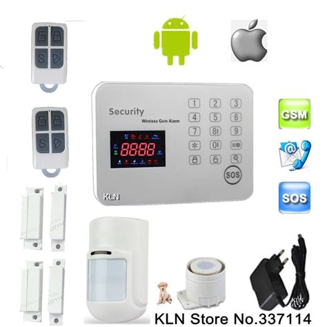 gsm alarm system security home sensor de movimento pet