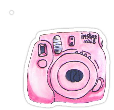"""""""pink instax camera"""" stickers by pocketfaun 