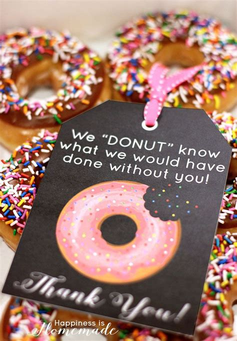 Free Thank You Card Templates Donut by 25 Appreciation Week Ideas Free Printable