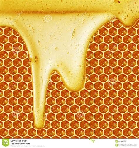 honey dripping on honeycomb background stock photo image