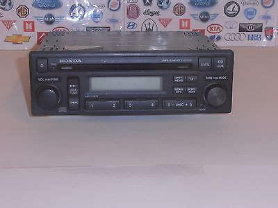 1998 honda accord radio code honda accord mk6 models 1998 to 2003 radio cd player
