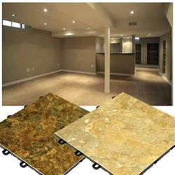 Basement Floor Tile slate look flooring interlocking basement floor tiles made in usa