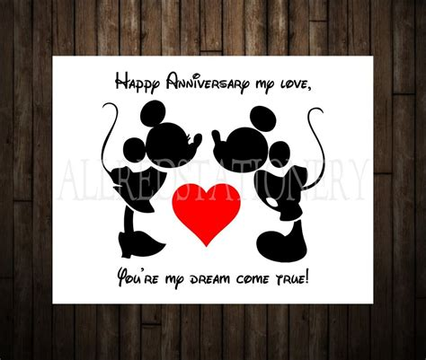 Amazon Anniversary Gift Card - mickey and minnie wedding annivesary card disney