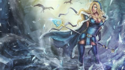 dota 2 rylai wallpaper dota 2 crystal maiden wallpaper wallpapersafari