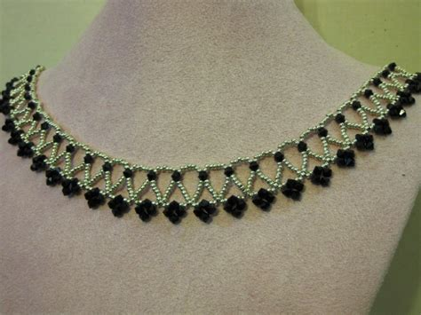 swarovski beaded necklace by elizanne necklaces on