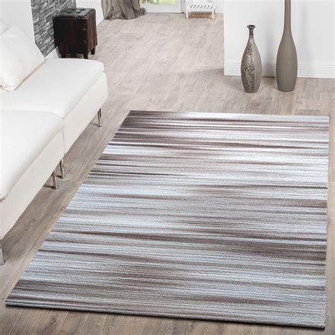 teppiche creme teppich modern wonzimmer teppich kurzflor gestreift