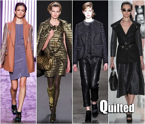 Quilting In Fashion by Fall 2013 Fashion Week Trends Quilted Sydne Style