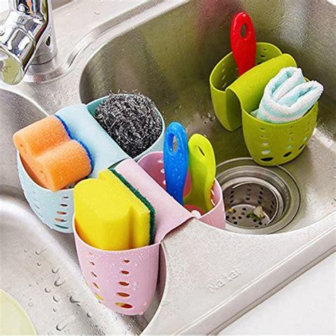 1pc home sponge storage gadget rack basket tiny items grocery house sponge sink holder hanging silicone kitchen