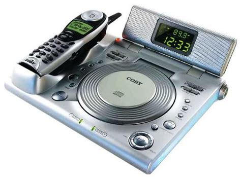 coby cd player with dual alarm clock radio and cordless telephone technology autos