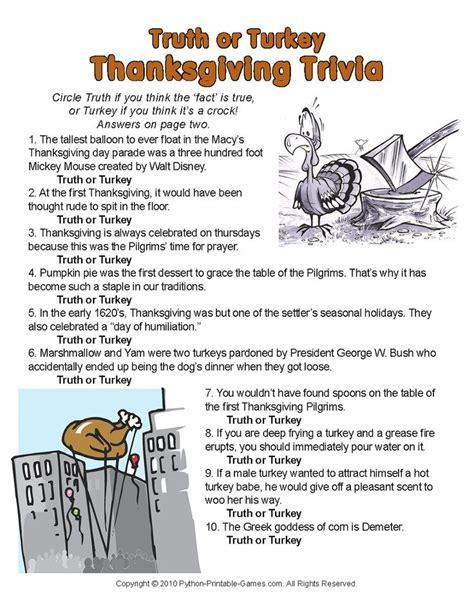 printable thanksgiving quiz a little trivia for thanksgiving thanksgiving and