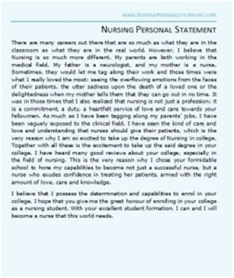 Example Resume For College Application by Nursing Personal Statement Samples