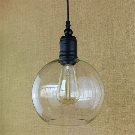 Kitchen Light Bulb Antique Retro Copper Hanging Clear Glass Shade Pendant L With Edison Led Light Bulb Kitchen