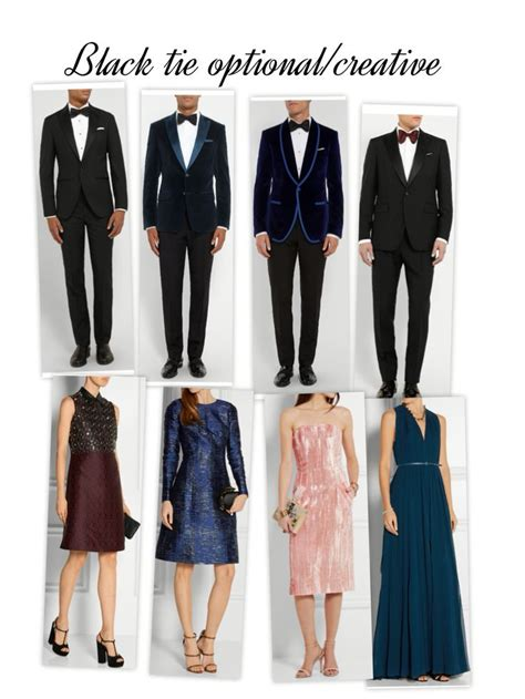 appropriate dress for black tie optional wedding black tie optional creative dress code summer