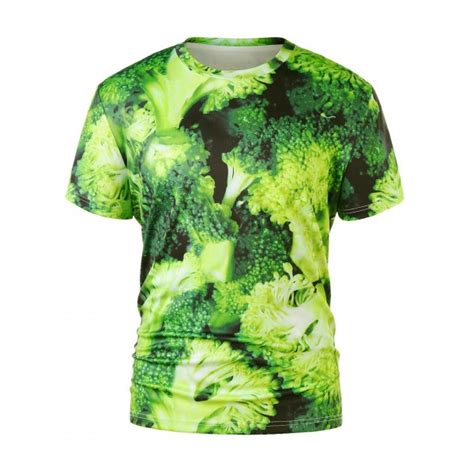 Kaos 3d Green Snake Size S Xl 3d broccoli print t shirt in green snake l twinkledeals