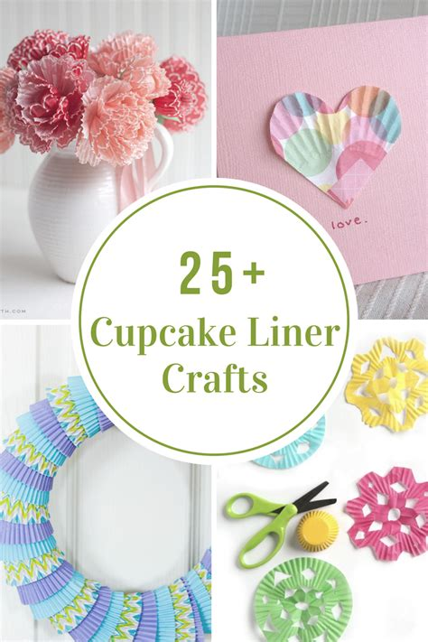 cupcake crafts for cupcake liner crafts the idea room