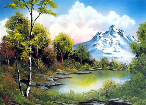 bob ross paints in canada cuadros de paisajes