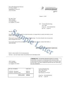 debt collection letter template best letter exles