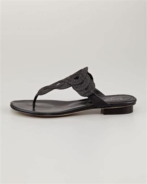 eric javits sandals eric javits yanna braided flat sandal black in black