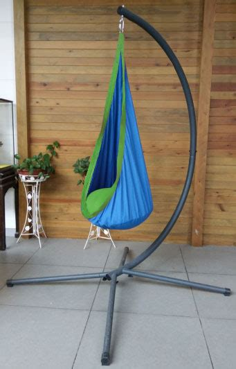 sensory swing with stand blue and green waterproof sensory swing with c stand