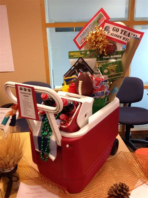 best gifts for football fans tailgate gift basket silent auction basket sport