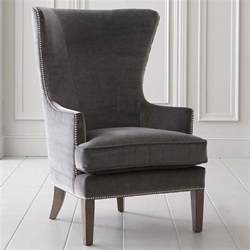 wing back accent chair accent chair in fabric or leather