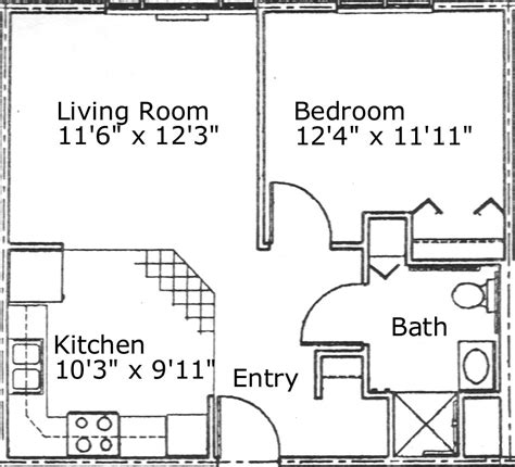 500 sq ft apartment floor plan floor plan