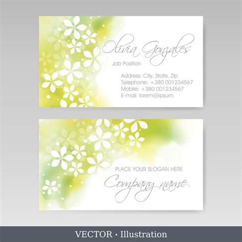 business cards templates stock illustration image of paper