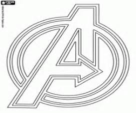 The Symbol Of Avengers A Coloring Page sketch template