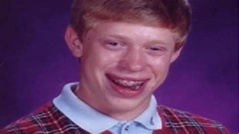 Nerdy Kid With Braces Meme - bad luck brian know your meme