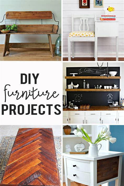 furniture projects diy furniture projects link party cherished bliss
