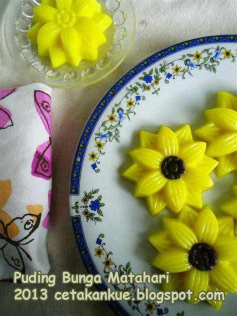 Cetakan Bunga 10cm cetakan kue puding bunga matahari