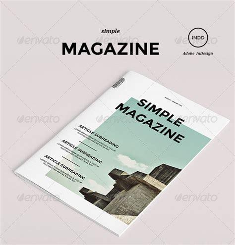simple magazine template 35 free magazine template designs idevie