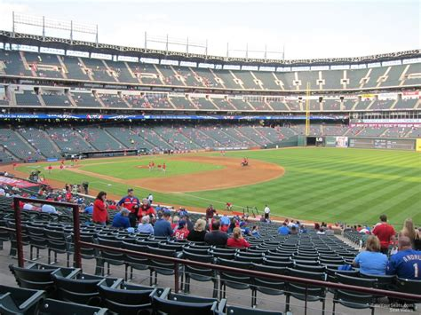 Rangers Sections by Lower Level The Line Globe Park Baseball