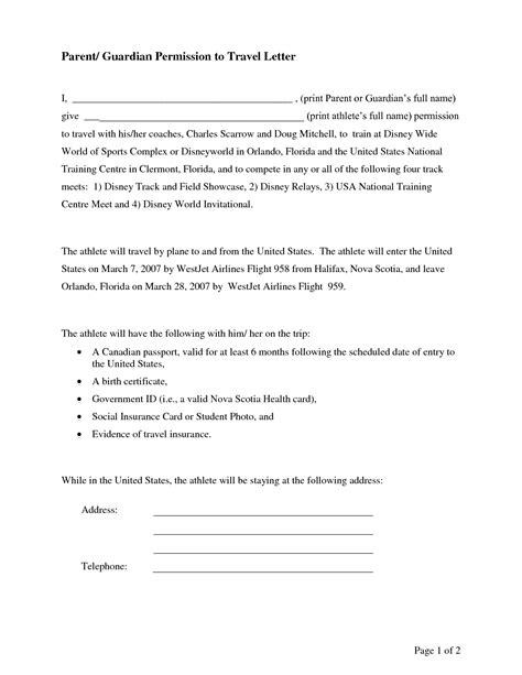 Consent Letter Notary notarized custody agreement template onlinecashsource