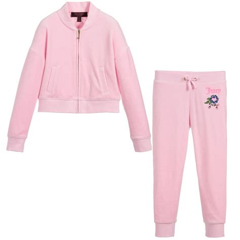 juicy couture tracksuit sale juicy couture girls pink tracksuit childrensalon
