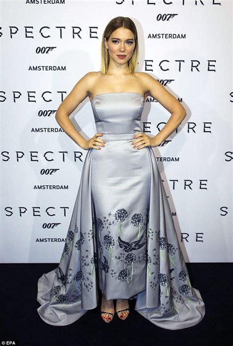 lea seydoux bond dress lea seydoux in a strapless gown at james bond spectre s
