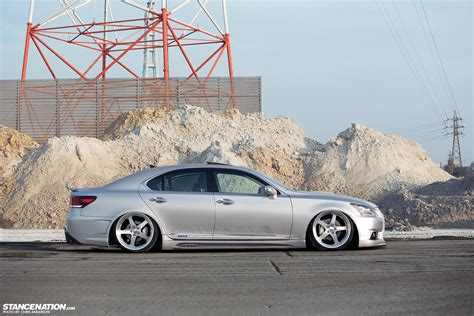slammed lexus ls460 two of a kind a pair of vip ls460s stancenation
