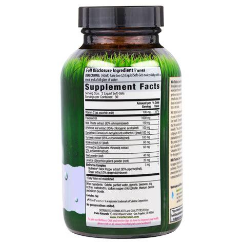 Irwin Milk Thistle Liver Detox by Irwin Naturals Milk Thistle Liver Detox 60 Liquid Soft
