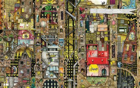 Puzzle Colin Thompson: Paysage Urbain Fantastique Schmidt