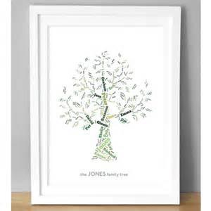 Wall Stickers For Teenagers personalised family tree art print