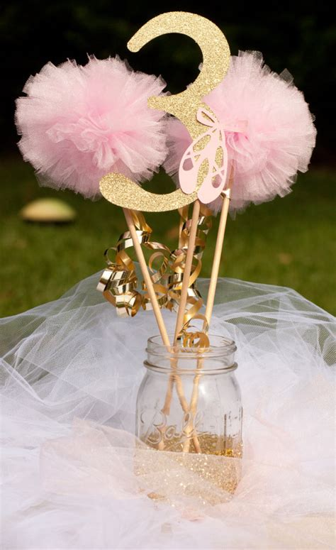 pink centerpieces pink and gold ballerina centerpiece table by gracesgardens on etsy langley s big day