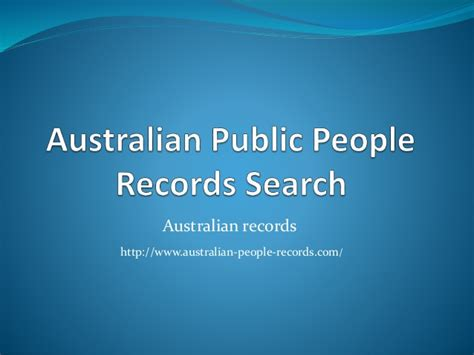 Search Peoples Records Australian Records Search