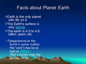 Planet earth facts facts about planet earth gt