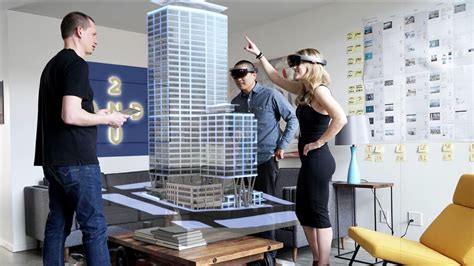 Open Floor Plan Living Room by Microsoft Hololens Helps Make The First Holographic