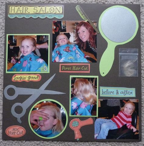 scrapbook layout for first haircut first haircut scrapbook page scrapbooking pinterest